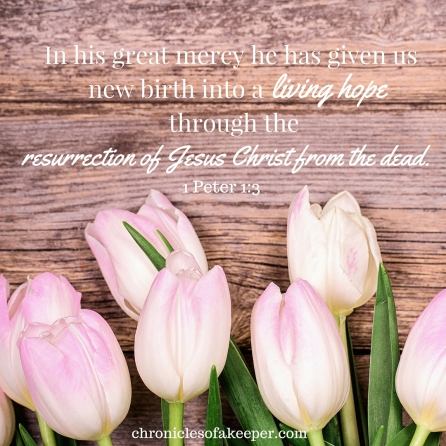 In his great mercy he has given us new birth into a living hope through the resurrection of Jesus Christ from the dead (1)